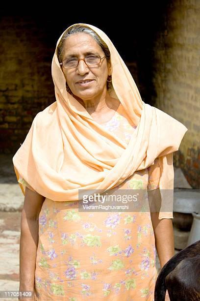 One Senior Rural Indian Woman