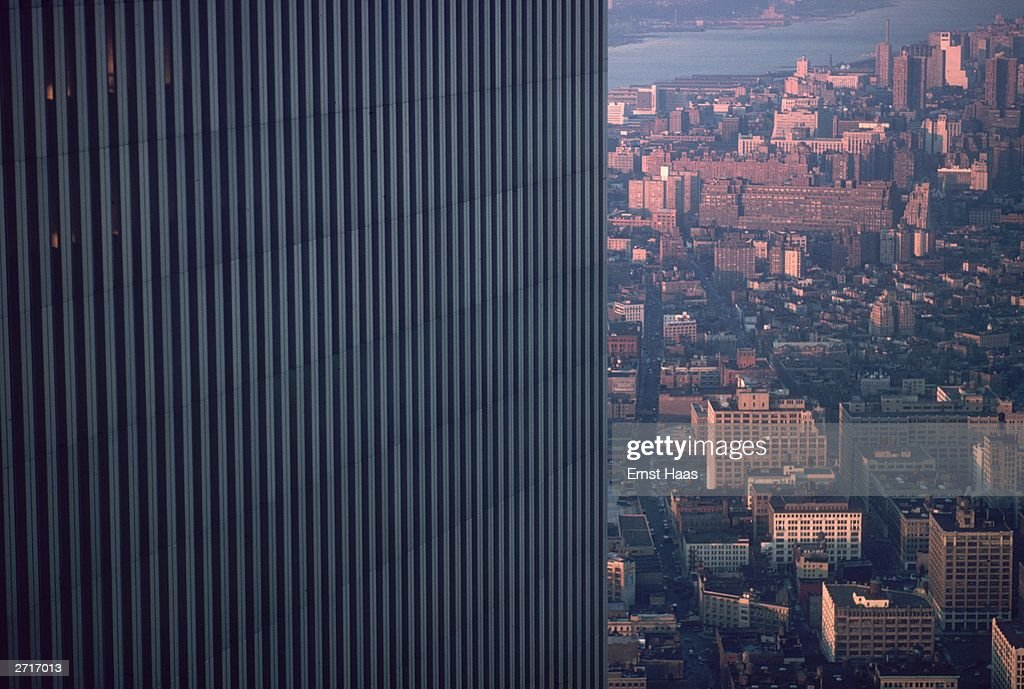 One tower of the World Trade Center (World Trade Centre) in lower Manhattan, New York City.