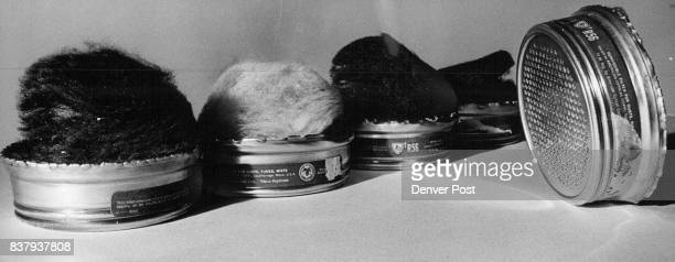 One unused air filter manufactured for a miners' mask stands alone among discard filters dirtied by fumes Credit Denver Post