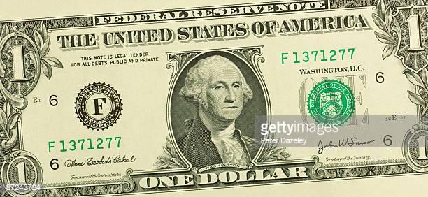 One US Dollar bill.