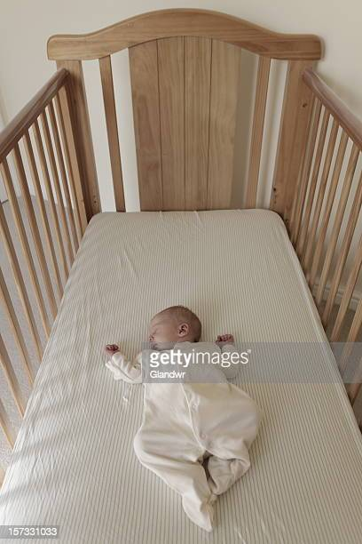 One Week Old Baby in Cot