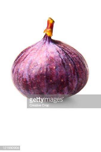 One whole fresh fig : Stock Photo