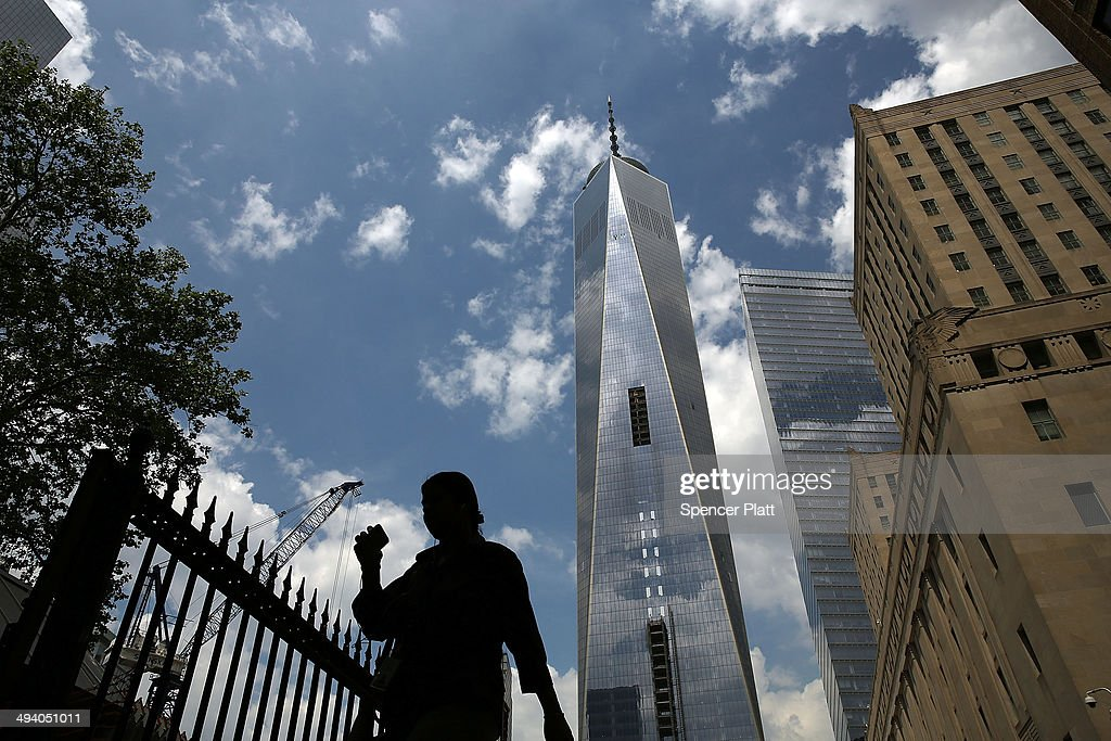 One World Trade Center stands on May 27, 2014 in New York City. With months before it's sceduled to open, the owners of One World Trade are cutting office rents due to a scarcity of current renters at the iconic location built near the former location of the original World Trade Center buildings, which were destroyed in the September 11 terrorist attacks. With only 55% of current space leased, owners and developers of the building are cutting rents 10% to $69 a square foot down from $75 a square foot.