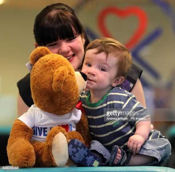 One year old baby Alex Moffat from Irvine with mum Katrina Darroch launch Blood Donor Week 2012 on behalf of the Scottish National Blood Transfusion...