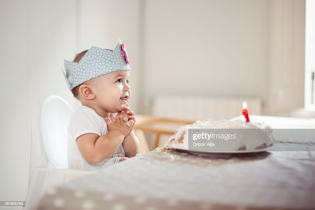 One Year Old boy celebrating brithday