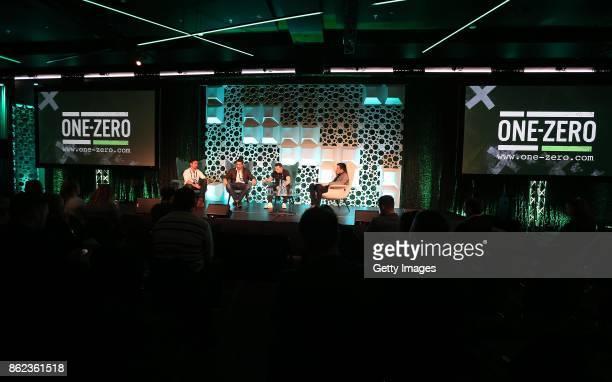 One Zero 2017 Vinny Hammond Kevin McLaughlin Owen Roddy and Richard Barrett at Croke Park on October 17 2017 in Dublin Ireland