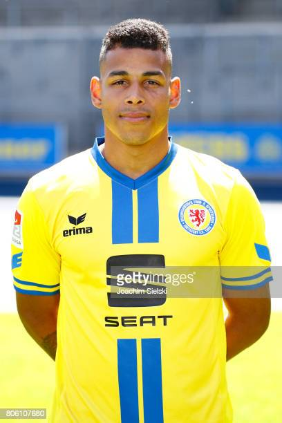 Onel Hernandez of Eintracht Braunschweig poses during the official team presentation of Eintracht Braunschweig at Eintracht Stadion on July 3 2017 in...