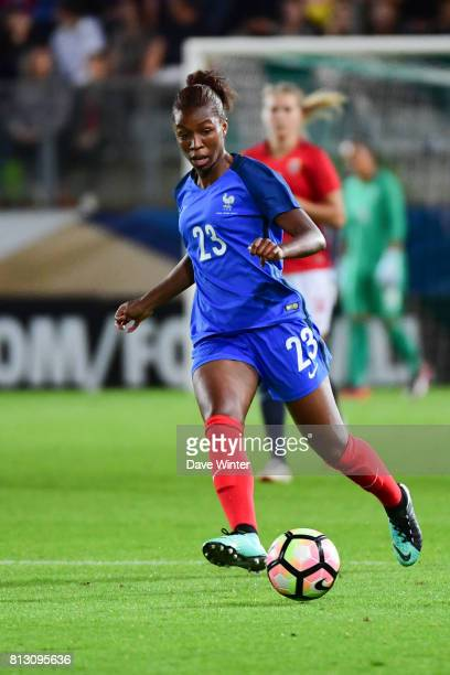 Onema Grace Geyoro of France during the women's international friendly match between France and Norway on July 11 2017 in Sedan France