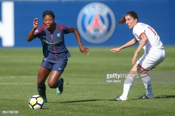 Onema Grace Geyoro of PSG during the French Women's Division 1 match between ParisSaint Germain and Lille at Camp des Loges on September 24 2017 in...