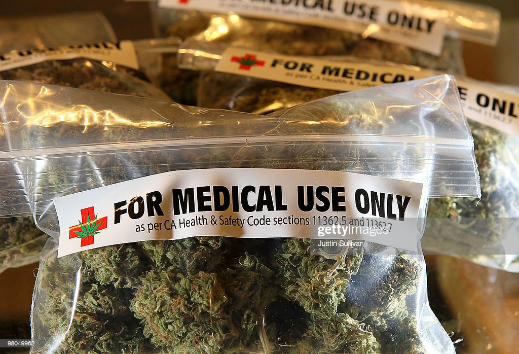 One-ounce bags of medicinal marijuana are displayed at the Berkeley Patients Group March 25, 2010 in Berkeley, California. California Secretary of State Debra Bowen certified a ballot initiative late Wednesday to legalize the possession and sale of marijuana in the State of California after proponents of the measure submitted over 690,000 signatures. The measure will appear on the November 2 general election ballot.