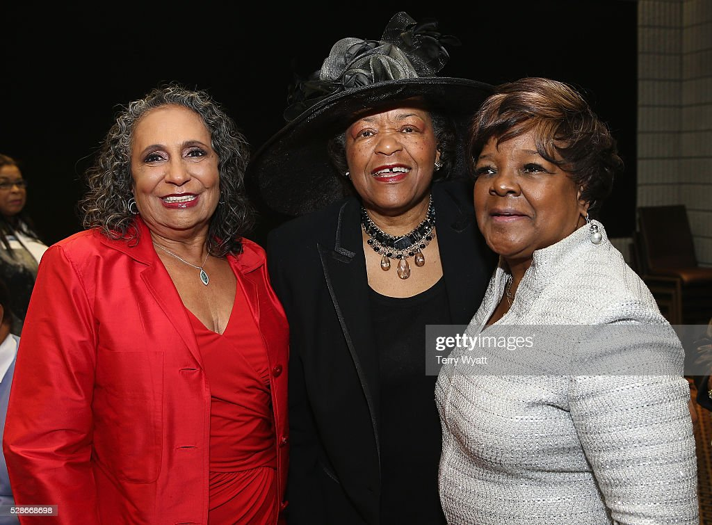 TV One/Radio One Chairman Cathy Hughes, Senator Thelma Harper, and recording artist Pastor Shirley Caesar attend NMAAM's Celebration Of Legends Red Carpet And Luncheon on May 6, 2016 in Nashville, Tennessee.