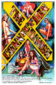 Onesheet movie poster advertises the film 'The Danish Connection' starring John Holmes and Stella Artois 1974