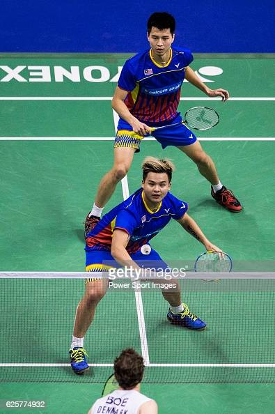 Ong Yew Sin and Teo Ee Yi of Malaysia competes against Mathias Boe and Carsten Mogensen of Denmark during their Men's Doubles QuarterFinal of...