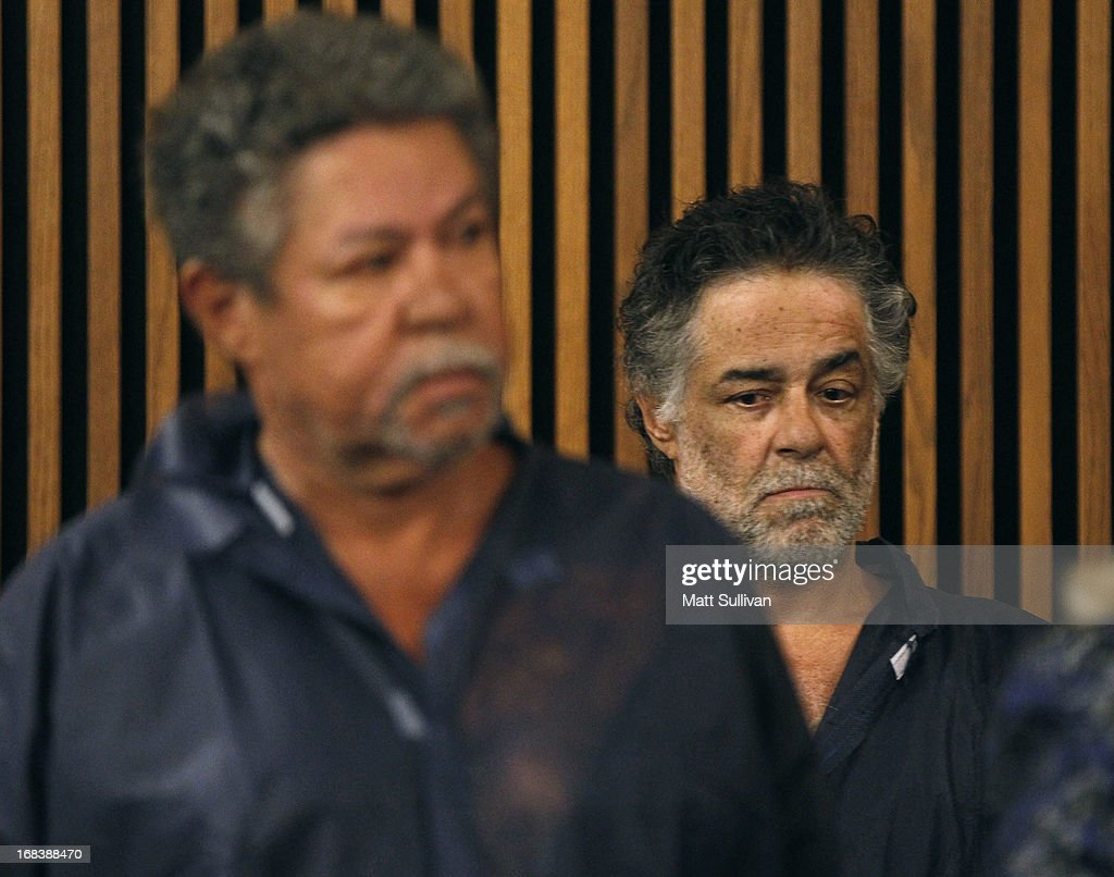Onil Castro (R) appears at his arraignment for drug abuse and open container charges from 2001 with his brother Pedro Castro (L) on May 9, 2013 in Cleveland, Ohio. Their other brother, Ariel Castro, was arraigned on rape and kidnapping charges for abducting Michelle Knight, Amanda Berry and Gina DeJesus and holding them for about 10 years. No charges were filed against Onil or Pedro and they were released by the judge. Bail was set at $8 million for Ariel.