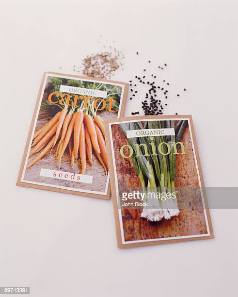 Onion and carrot seed packets