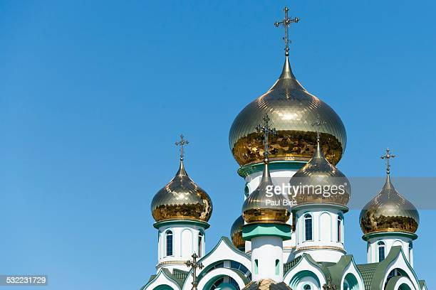 Onion Domes Russian Orthodox Church in Mukacheve