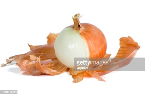Onion Half Peeled : Stock Photo