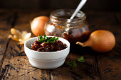Homemade onion and tomato jam