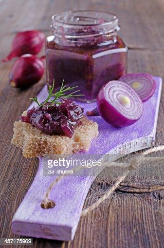 onion marmalade : Stock Photo