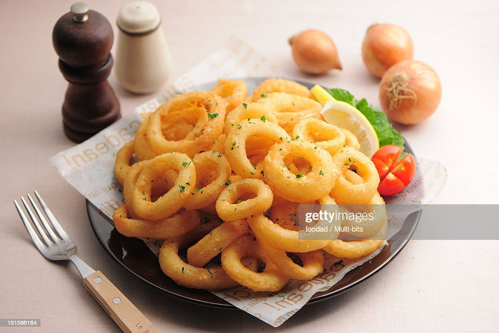 Onion rings : Stock Photo