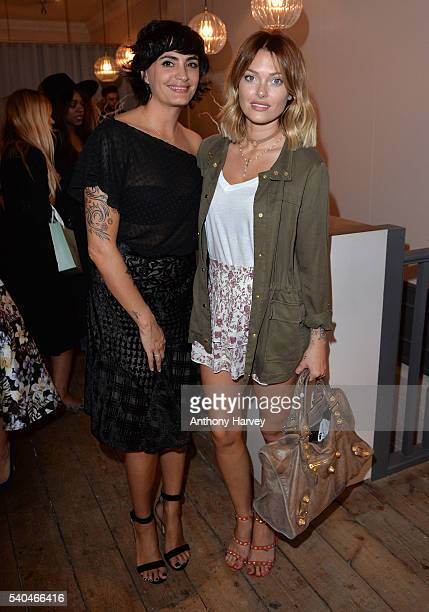 Onira Organics founder Jessica LemariePires and Caroline Receveur attend the Onira Organics official launch celebration party at Dry By London on...