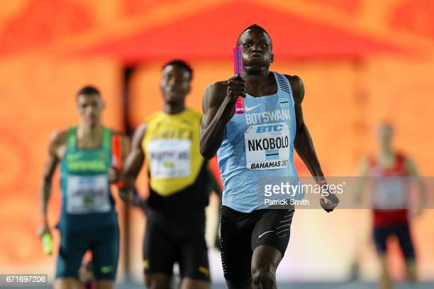 Onkabetse Nkobolo of Botswana competes in heat three of the Men's 4 x 400 Meters Relay during the IAAF/BTC World Relays Bahamas 2017 at Thomas...