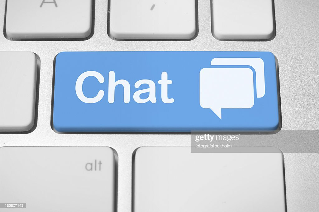 Online chat : Stock Photo