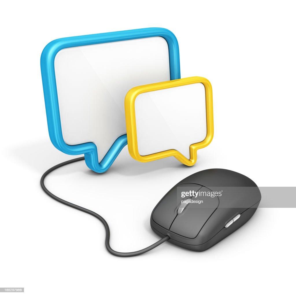 Comunicazioni online : Stock Photo