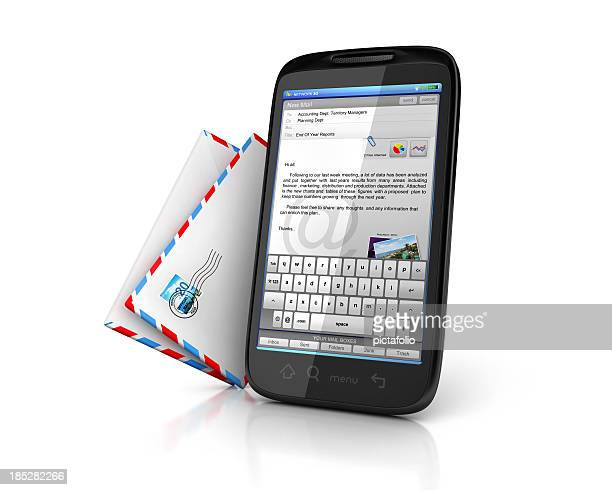online email on mobile phone