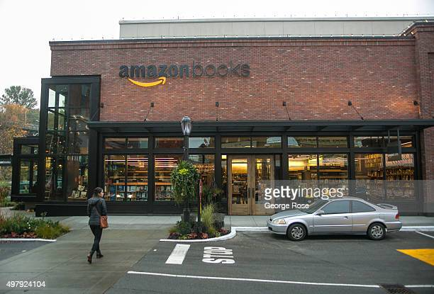 Online giant Amazoncom has opened its first 'brick and mortar' retail bookstore as viewed on November 5 in Seattle Washington The store called Amazon...
