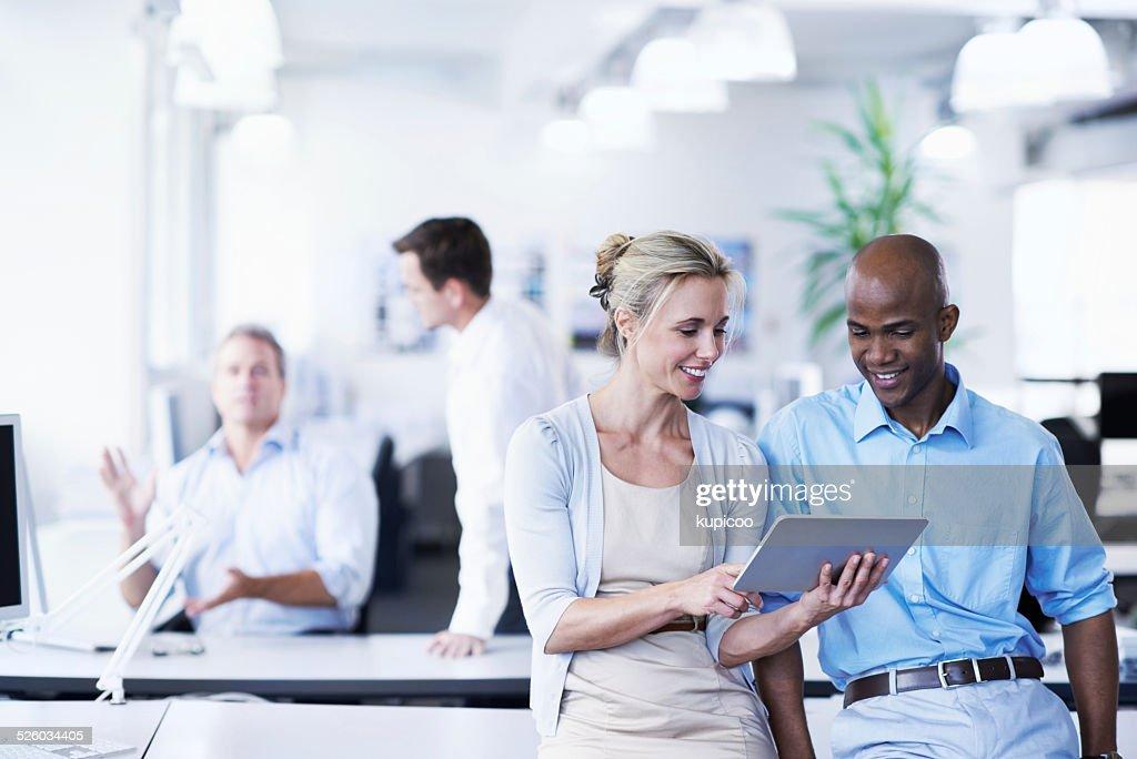 Online in today's business world : Stock Photo