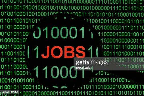 Línea de puestos de trabajo : Foto de stock