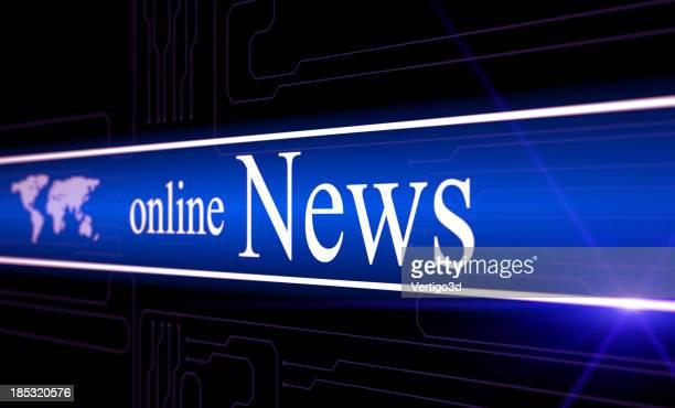 concept d'actualités en ligne