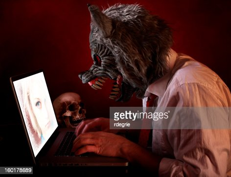 Online Predator : Stock Photo
