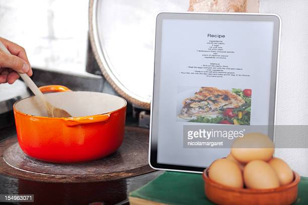 Online Recipe: using digital tablet