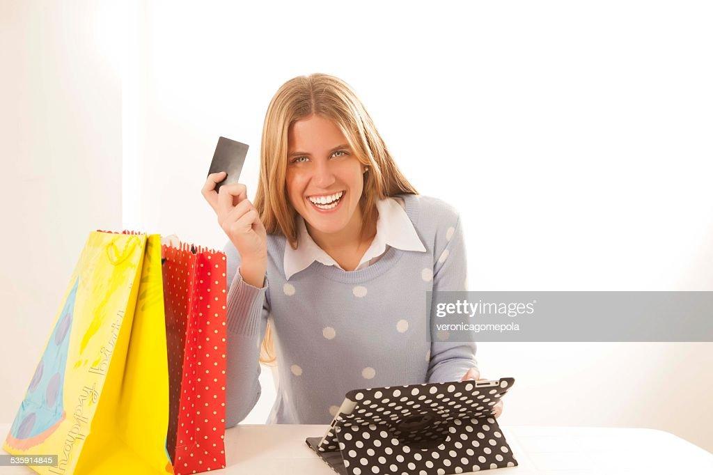Compras Online : Foto de stock
