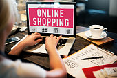 Online Shopping Purchasing Commercial Electronic Concept