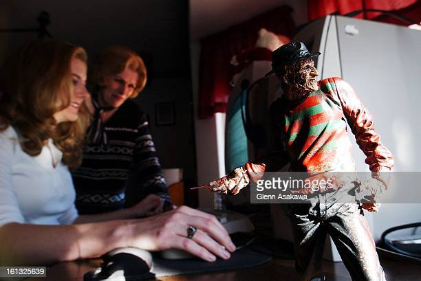 ONLINEDIARY122601Behind a miniature of Freddie Kruger of the Nightmare on Elm Street movies Mindy Gray updates her online journalone of the most...