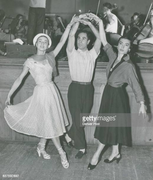 Only moments after stepping off in Denver from New York city five members of the Ballet Russe de Monte Carlo who are to appear Friday and Saturday at...