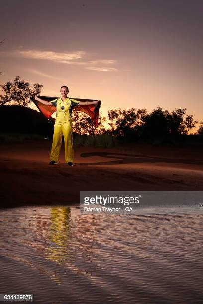 Only the second Indigenous female to play for Australia Ashleigh Gardner poses for a photo on February 7 2017 in Alice Springs Australia