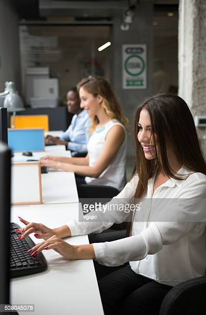 Only Women Working In Their Office.