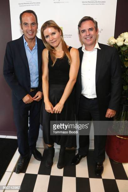 OnlyRoses owner Anian Schmitt Sabine Schmitt Private Wealth Advisor Robert Daly Jr attend the Tracy Paul Company for Only Roses Launch Beverly Hills...