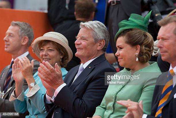 Onno Hoes Daniela Schadt Joachim Gauck and Grand Duchess Maria Teresa of Luxembourg attend celebrations marking the 200th anniversary of the kingdom...