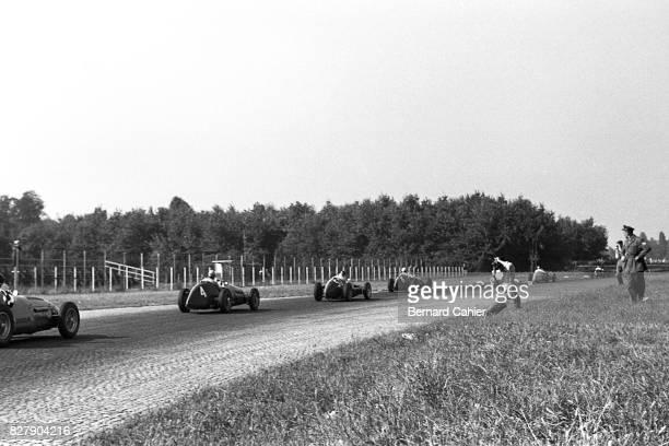 Onofre Marimon Nino Farina Juan Manuel Fangio Alberto Ascari Maserati A6GCM Ferrari 500 Grand Prix of Italy Monza 13 September 1953