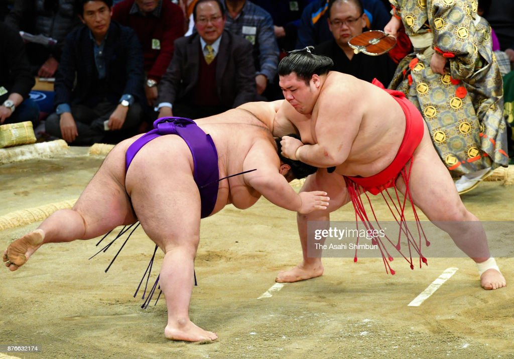 Grand Sumo Kyushu Tournament - Day 9