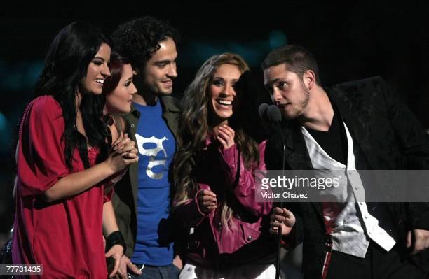 RBD onstage during Los Premios MTV Latin America 2007 at El Palacio de Los Deportes on October 18 2007 in Mexico City Mexico
