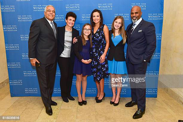 Onsy Habib Ana L Oliveira Kate Powell Dina Habib Powell Eva Powell and Ted Bunch attend The New York Women's Foundation's 2016 Fall Gala at The Plaza...