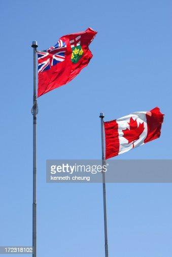 オンタリオ州、カナダ国旗
