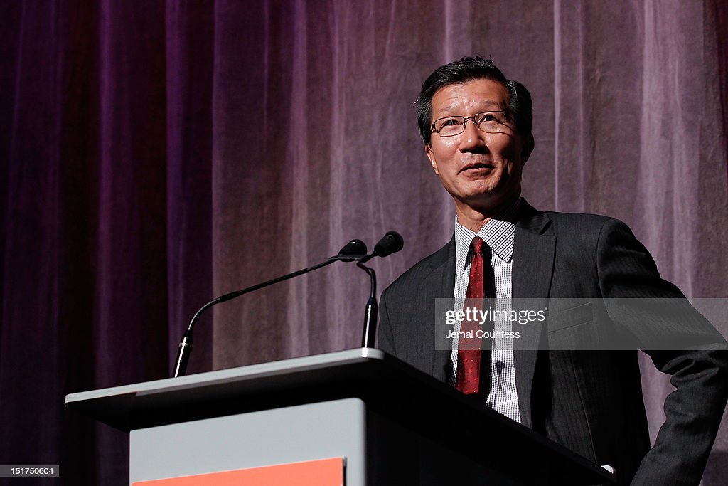 Ontario Minister of Tourism and Culture Michael Chan speaks onstage at the 'Dangerous Liaisons' Premiere during the 2012 Toronto International Film Festival at Roy Thomson Hall on September 10, 2012 in Toronto, Canada.