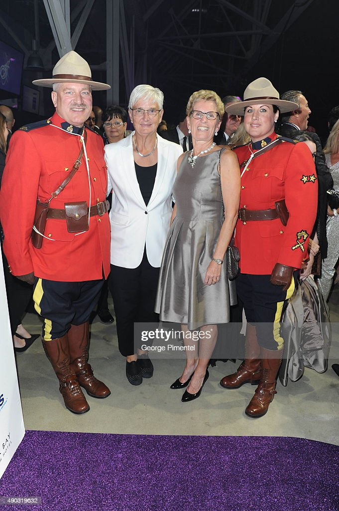Ontario's Premier <a gi-track='captionPersonalityLinkClicked' href=/galleries/search?phrase=Kathleen+Wynne&family=editorial&specificpeople=10626599 ng-click='$event.stopPropagation()'>Kathleen Wynne</a> (R) and partner Jane Rounthwaite attend David Foster Foundation Miracle Gala And Concert held at Mattamy Athletic Centre on September 26, 2015 in Toronto, Canada.